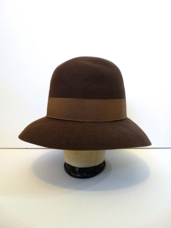 1980s Chanel 'Ladylike' Felt Hat with Bow 5