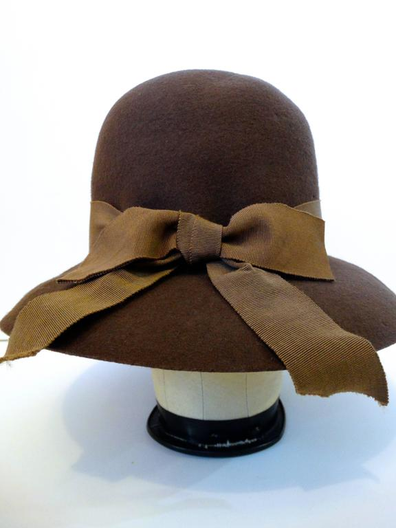 1980s Chanel 'Ladylike' Felt Hat with Bow 10