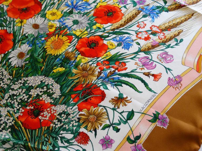 Women's Gucci V. Accornero Spighe Wheat Scarf, 1970s   For Sale