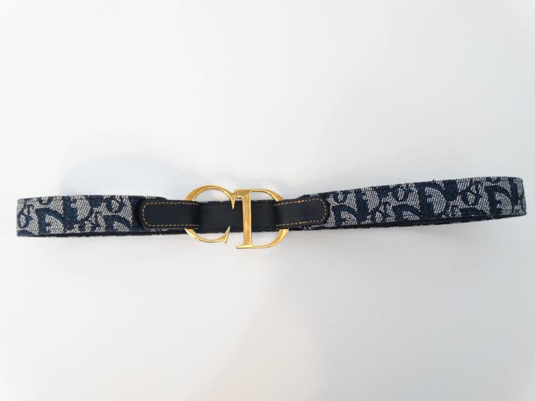 "1990s Christian Dior Diorissimo ""CD"" Belt  7"