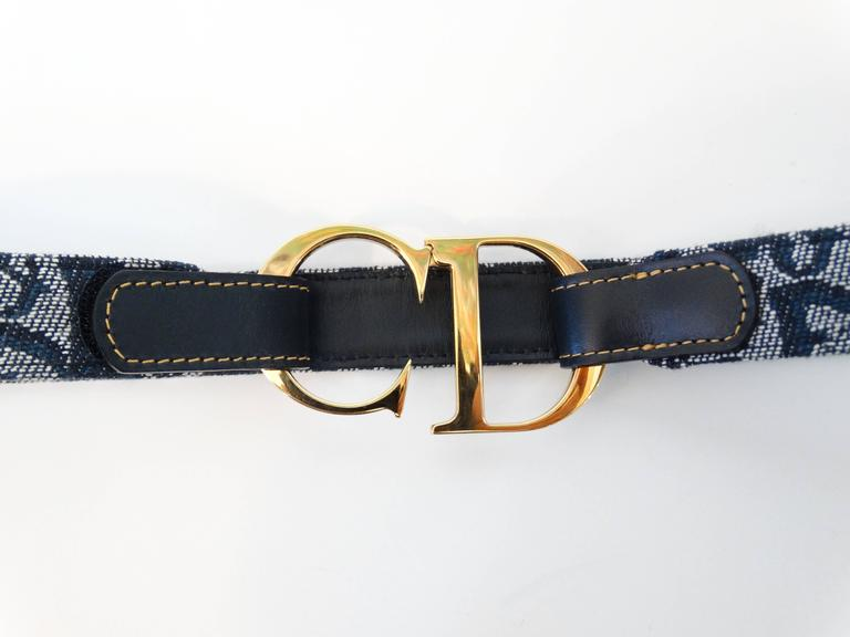"1990s Christian Dior Diorissimo ""CD"" Belt  8"
