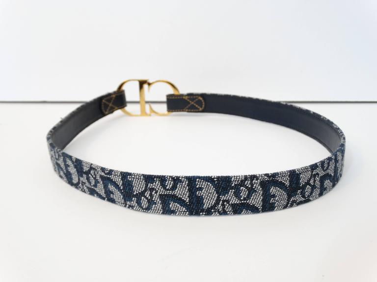 "1990s Christian Dior Diorissimo ""CD"" Belt  9"