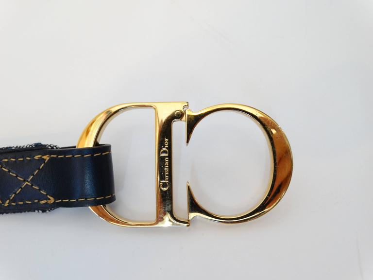 "1990s Christian Dior Diorissimo ""CD"" Belt  10"