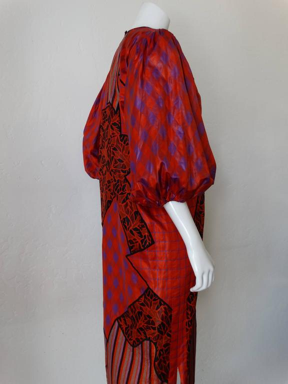Women's 1980s Diane Freis Runway Patchwork Tent Dress For Sale