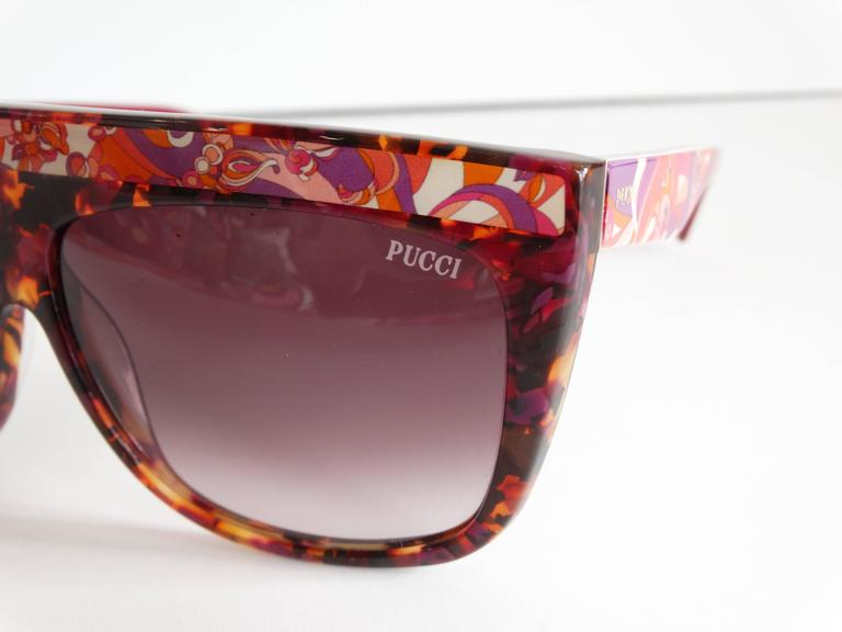 Brown 1990s Emilio Pucci Confetti Sunglasses  For Sale