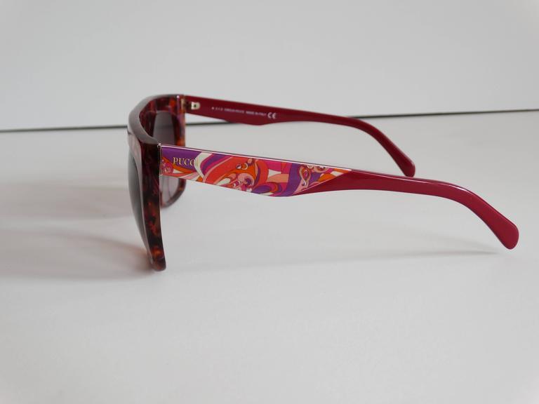 1990s Emilio Pucci Confetti Sunglasses  In Excellent Condition For Sale In Scottsdale, AZ