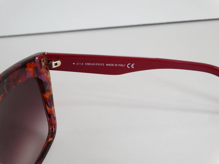 Women's or Men's 1990s Emilio Pucci Confetti Sunglasses  For Sale