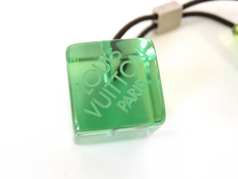 Green Louis Vuitton Hair Cube For Sale