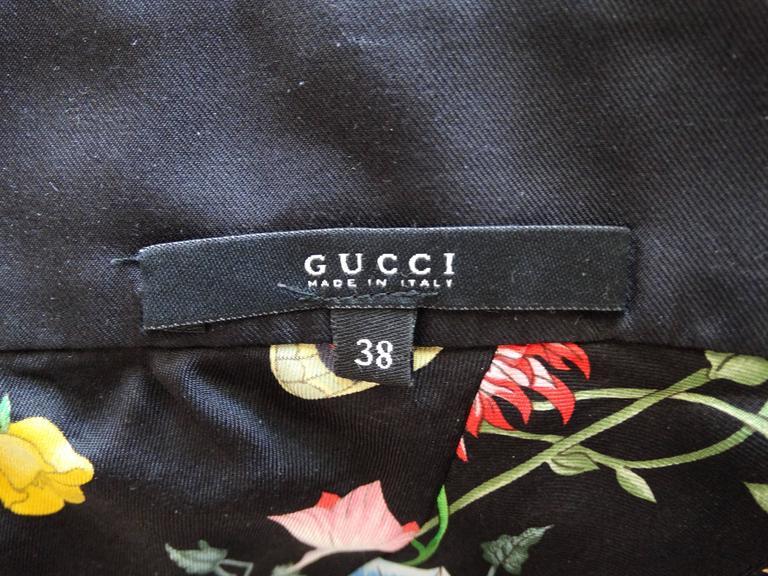 2000s Gucci Flora Silk Halter Blouse For Sale 2