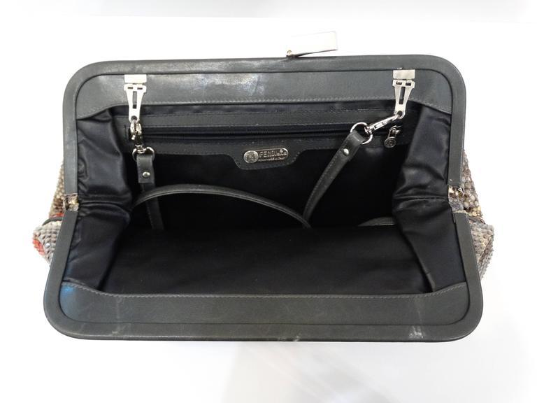 Rare 1980s Fendi Snakeskin Crossbody Bag In Good Condition For Sale In Scottsdale, AZ