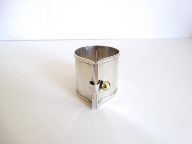 Exquisite 1960s Karbra Modernism Sterling Silver Cuff  In Excellent Condition For Sale In Scottsdale, AZ