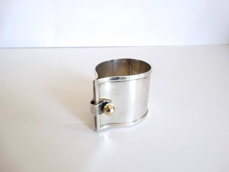 Exquisite 1960s Karbra Modernism Sterling Silver Cuff  For Sale 2