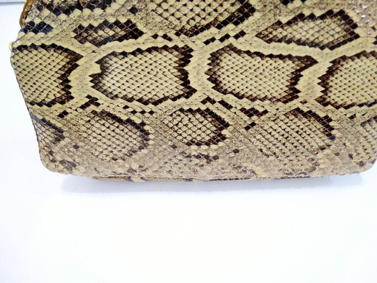 Judith Leiber Python Snakeskin Evening Bag For Sale 3