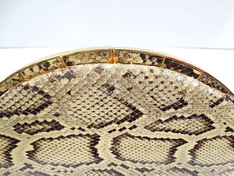Judith Leiber Python Snakeskin Evening Bag For Sale 5