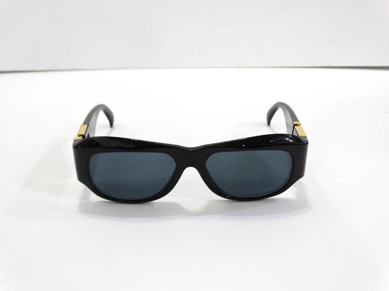 1990s Gianni Versace Greek Key Logo Sunglasses 3