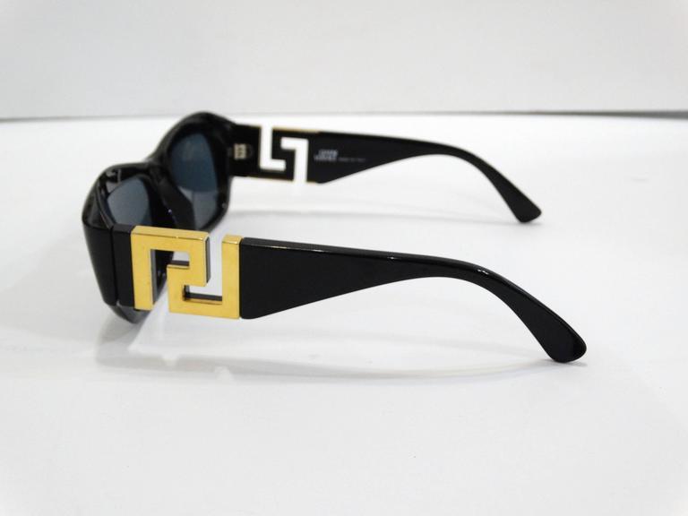 1990s Gianni Versace Greek Key Logo Sunglasses 5