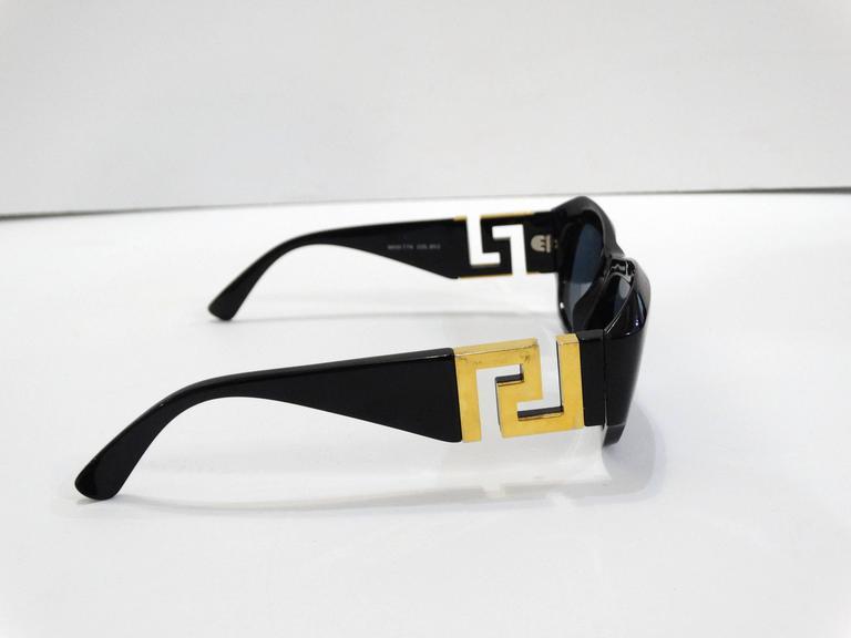 1990s Gianni Versace Greek Key Logo Sunglasses 6