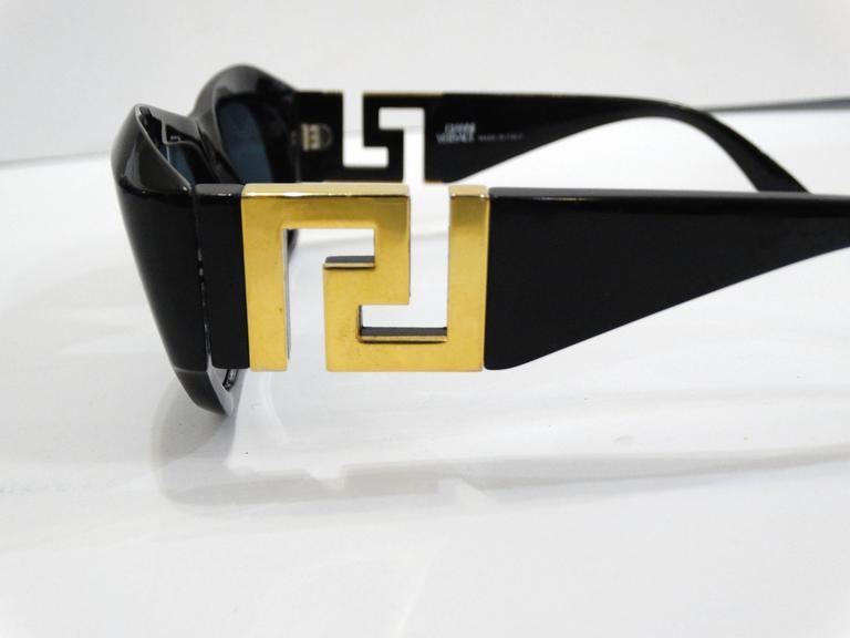 1990s Gianni Versace Greek Key Logo Sunglasses 8