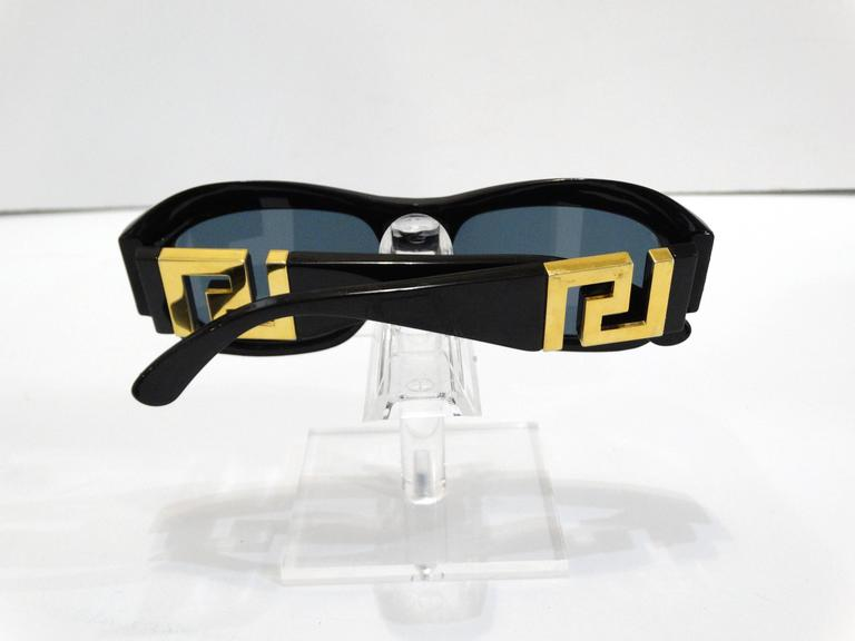 1990s Gianni Versace Greek Key Logo Sunglasses 9