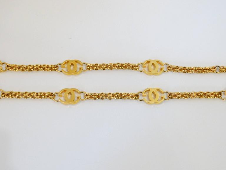1985 Gucci GG Link Belt  For Sale 2