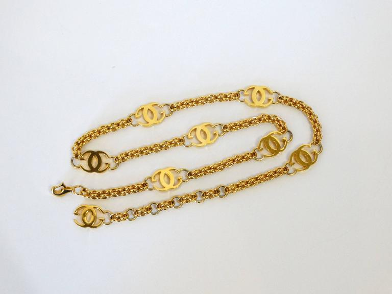 1985 Gucci GG Link Belt  For Sale 3