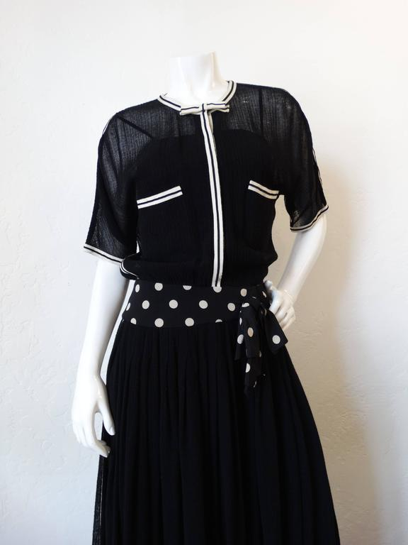 1980s Chanel Black Knit Dress In Excellent Condition For Sale In Scottsdale, AZ