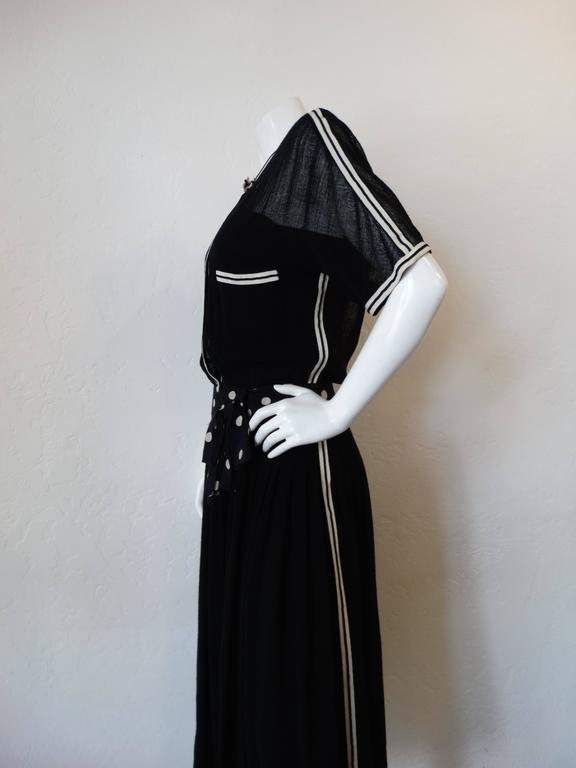 Women's 1980s Chanel Black Knit Dress For Sale