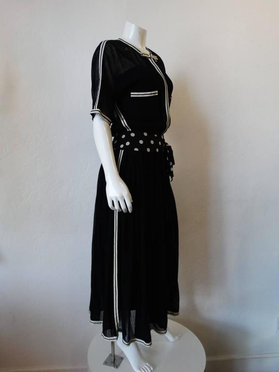 1980s Chanel Black Knit Dress For Sale 1