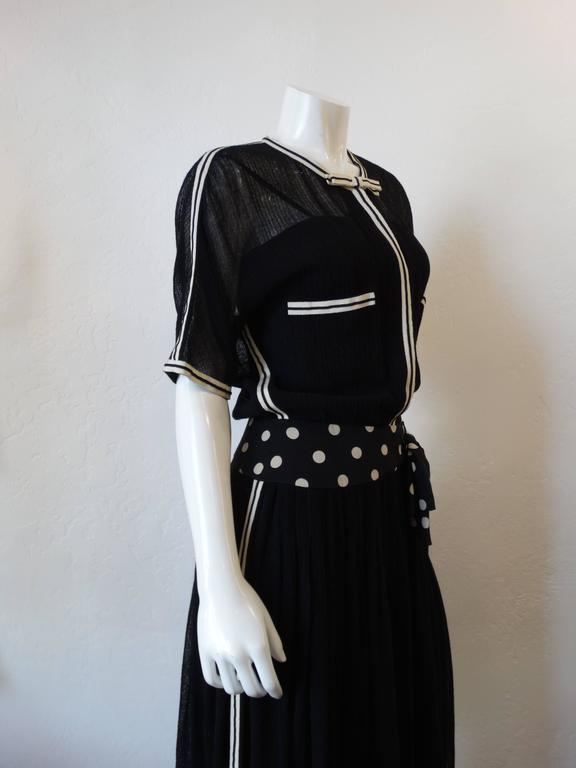 1980s Chanel Black Knit Dress For Sale 2