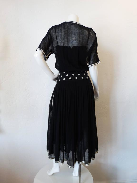 1980s Chanel Black Knit Dress For Sale 3
