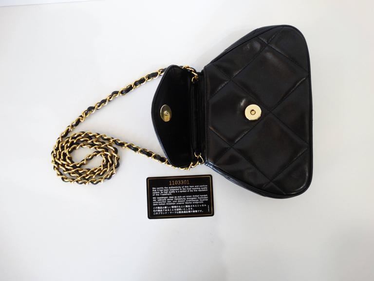 Rare 1990s Chanel Black Lambskin Quilted Mini Bag 2