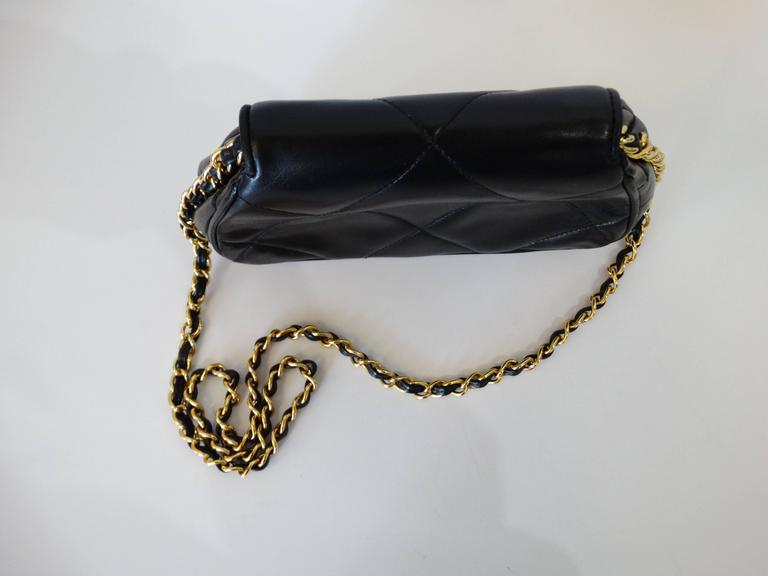 Rare 1990s Chanel Black Lambskin Quilted Mini Bag 8