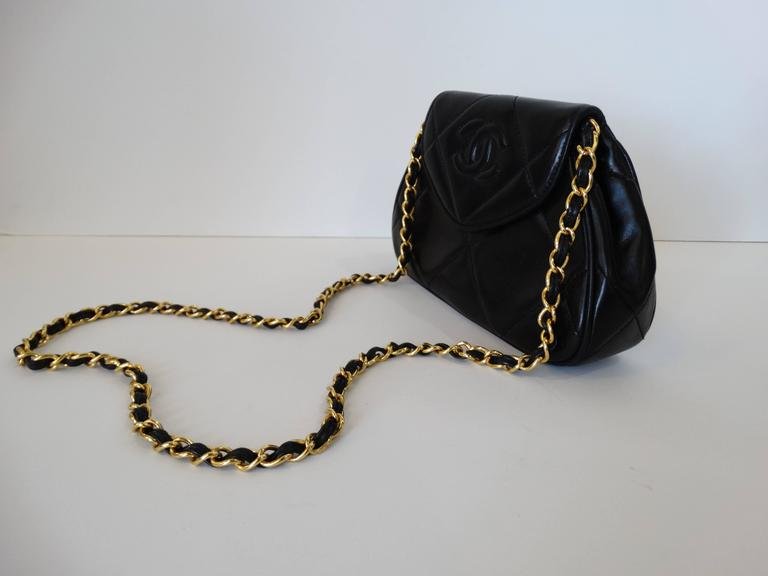 Rare 1990s Chanel Black Lambskin Quilted Mini Bag 9