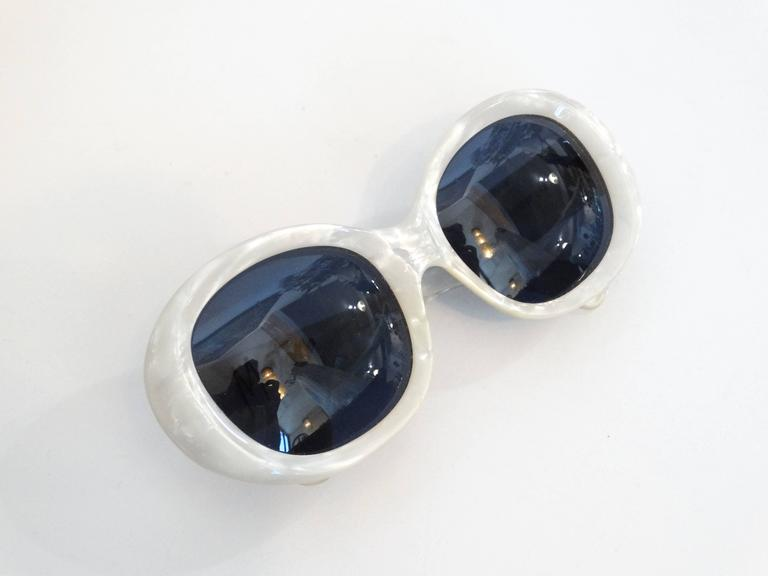 1960s Claude Montana Mother of Pearl Sunglasses 9