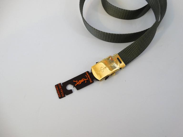 1980s Yves Saint Laurent Deadstock Nylon Belt  For Sale 1