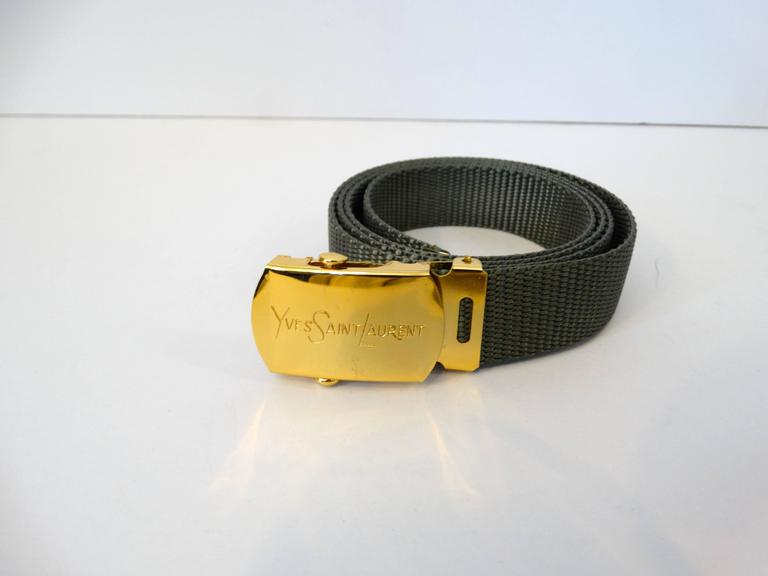 Women's or Men's 1980s Yves Saint Laurent Deadstock Nylon Belt  For Sale