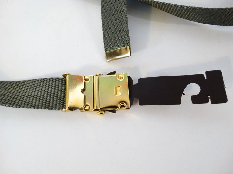 1980s Yves Saint Laurent Deadstock Nylon Belt  In New Never_worn Condition For Sale In Scottsdale, AZ