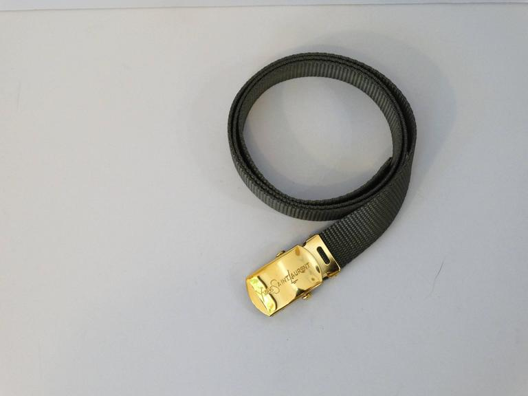 1980s Yves Saint Laurent Deadstock Nylon Belt  For Sale 3
