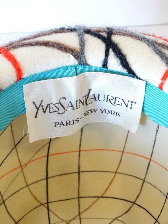Yves Saint Laurent Wool Plaid Chapeau  For Sale 4