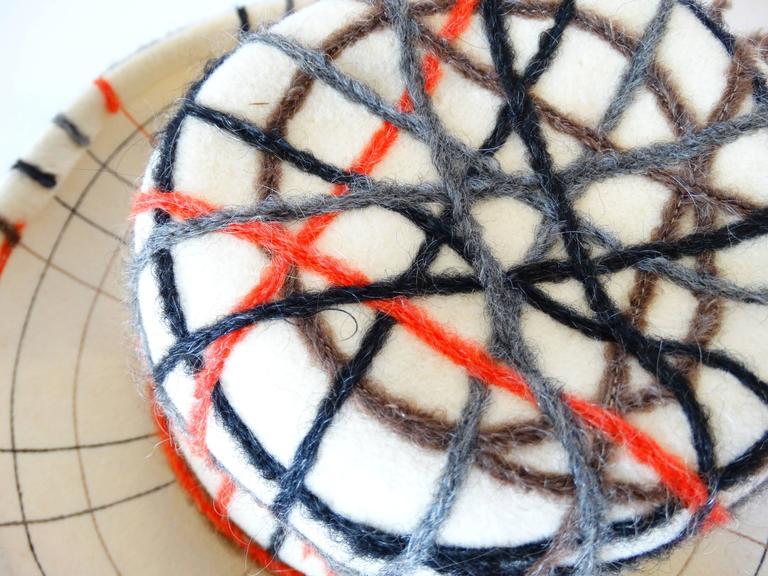 Yves Saint Laurent Wool Plaid Chapeau  For Sale 5