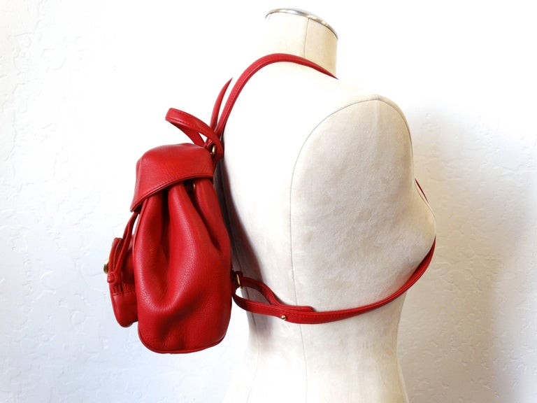 Christian Dior Lipstick Red Leather Mini Backpack at 1stdibs