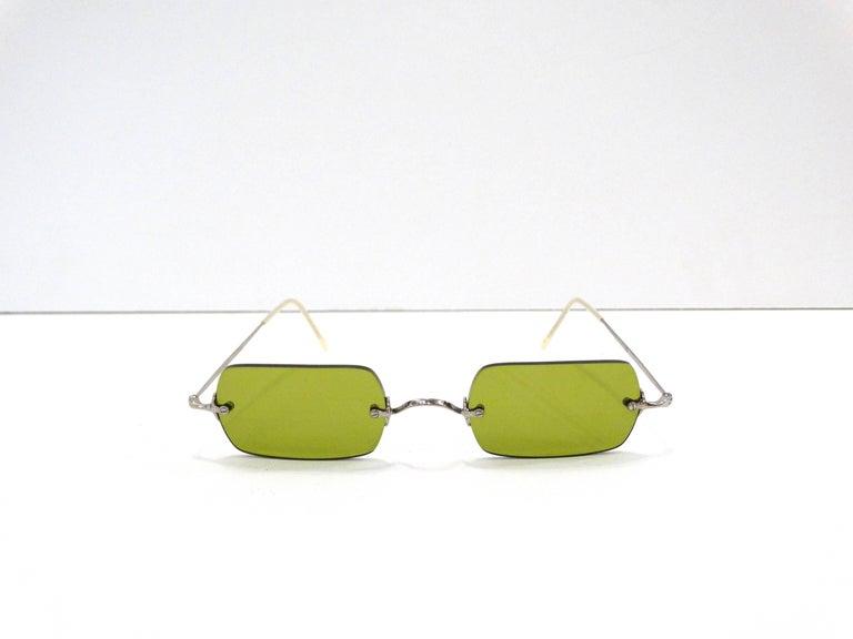Brown Oliver Peoples Olive Green Lens Sunglasses