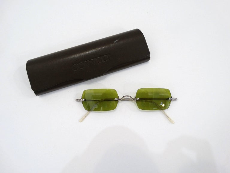 Oliver Peoples Olive Green Lens Sunglasses In Excellent Condition In Scottsdale, AZ