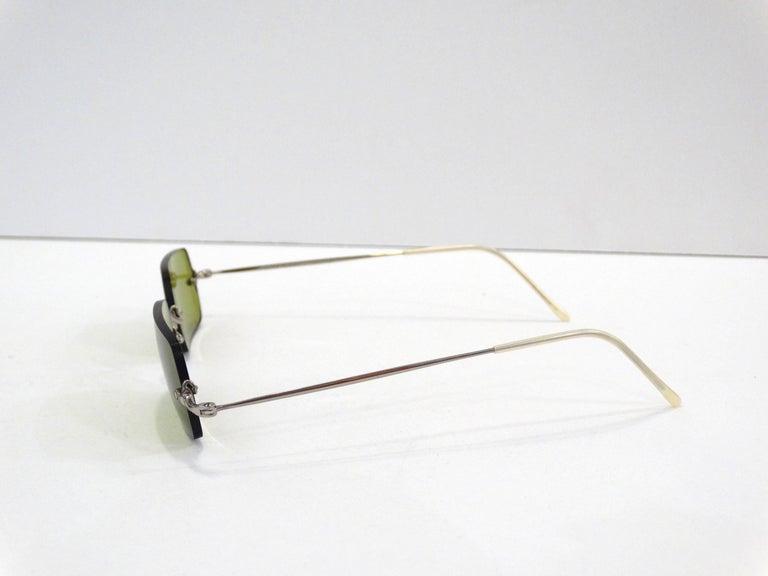 Oliver Peoples Olive Green Lens Sunglasses 2