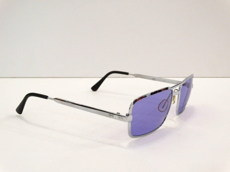 Women's 1990s Violet Colored Sunglasses  For Sale