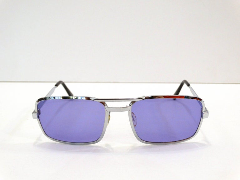 1990s Violet Colored Sunglasses  For Sale 1