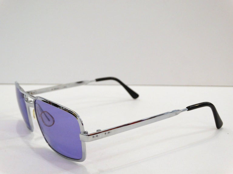 1990s Violet Colored Sunglasses  For Sale 2