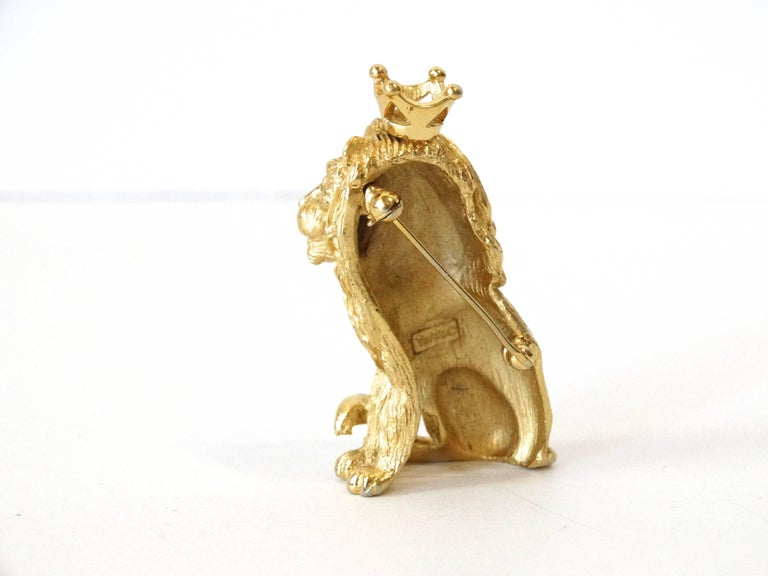 1970s Trifari Lion Pin with Crown  For Sale 1