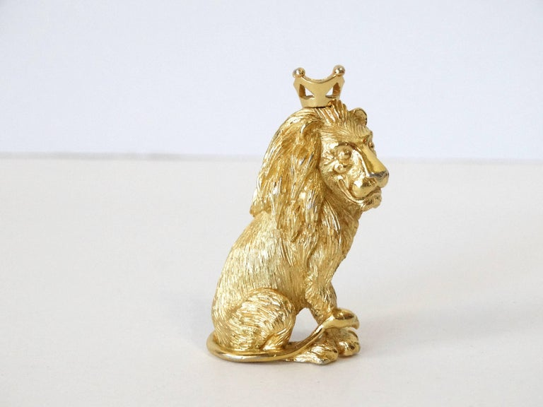 1970s Trifari Lion Pin with Crown  For Sale 4