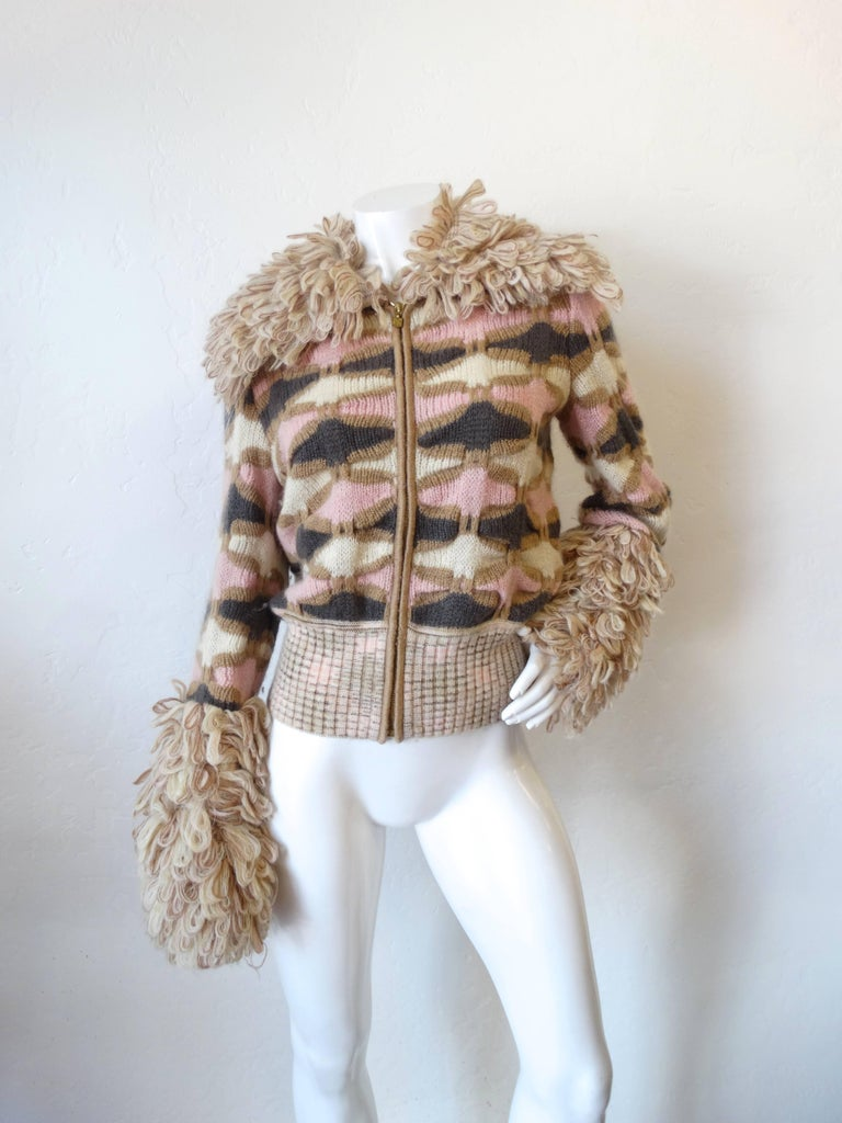 Fabulous 2000s Missoni Knitted Zip Up Sweater Jacket at ...